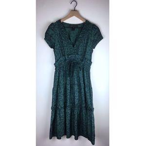 Marc Jacobs Ruffle Floral Short Sleeve Dress